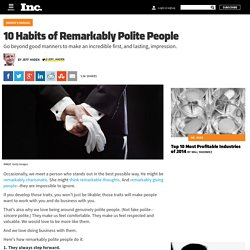 10 Habits of Remarkably Polite People