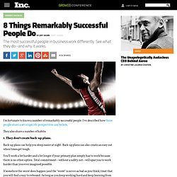8 Habits of Remarkably Successful People