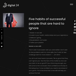 Five habits of successful people that are hard to ignore