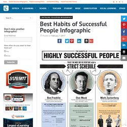 Best Habits of Successful People Infographic