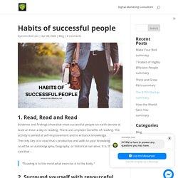 Habits of successful people - Invincible Lion
