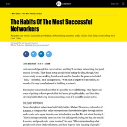 The Habits Of The Most Successful Networkers