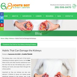 Habits That Can Damage the Kidneys