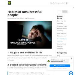 Habits of unsuccessful people - Invincible Lion