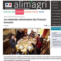 Les habitudes alimentaires des Français évoluent