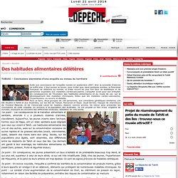 LA DEPECHE DE TAHITI 02/03/09 Des habitudes alimentaires délétères