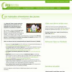 IPCO ALSACE 17/10/12 Les habitudes alimentaires des jeunes