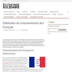 Habitudes de consommation des Français