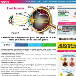 5 Habitudes dangereuses pour les yeux et la vue mais que vous faites tous les jours