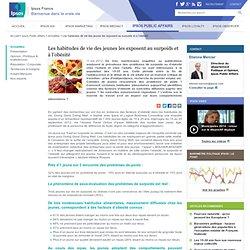 IPSOS 11/10/12 Les habitudes de vie des jeunes les exposent au surpoids et à l'obésité. Présentation.