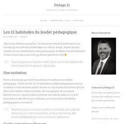Les 12 habitudes du leader pédagogique