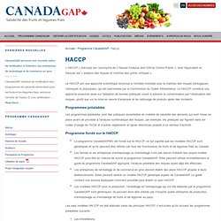 CANADADAGAP - Salubrité des fruits et légumes frais.