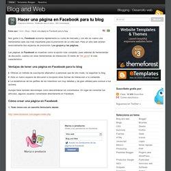 Hacer una página en Facebook para tu blog