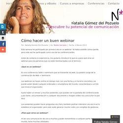 Cómo hacer un buen webinar - Natalia Gómez del Pozuelo