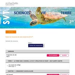 Hachette Education Lycée - 2de - Planète SVT - Livre élève SVT (site élève)