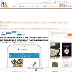 Hachette rejoint une application qui fait vivre les livres pour enfants