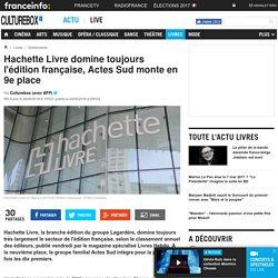 Hachette Livre domine toujours l'édition française, Actes Sud monte en 9e place