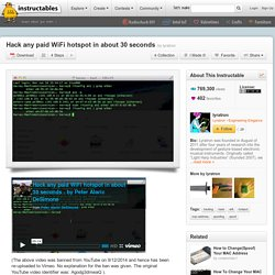 Hack any paid WiFi hotspot in about 30 seconds