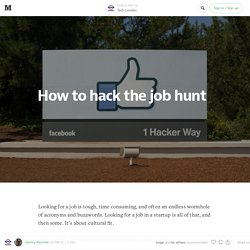 How to hack the job hunt — Tech London