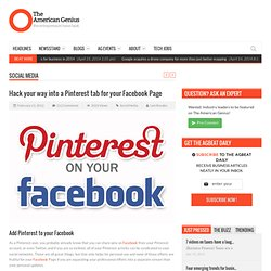 Hack your way into a Pinterest tab for your Facebook Page