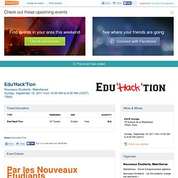 Edu'Hack'Tion - Education - Nightscience - Fabelier- Eventbrite