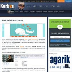 Hack de Twitter – La suite… Korben