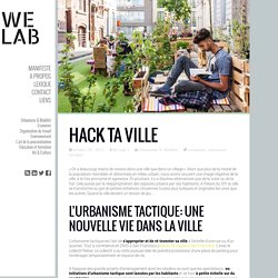 Hack ta ville - We Lab