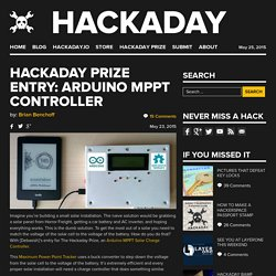 Prize Entry: Arduino MPPT Controller