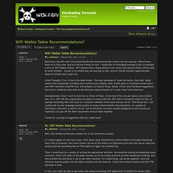 Forums - View topic - WiFi Walkie Talkie Recommendations?