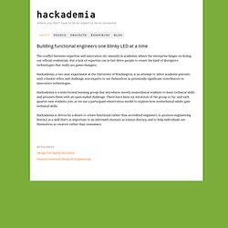 hackademia — where you don't have to be an expert to be an innovator