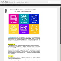 risorse e strumenti per il digital storytelling - narrazione digitale