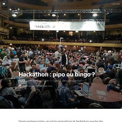 Hackathon : pipo ou bingo ? — The French Tech Touch