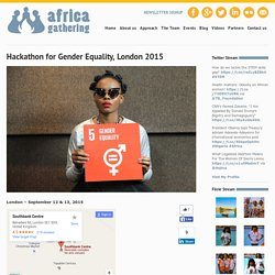 Hackathon for Gender Equality, London 2015