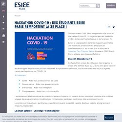 Hackathon Covid-19 : des étudiants ESIEE Paris remportent la 3e place !