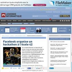 Facebook organise un hackathon à l'école 42
