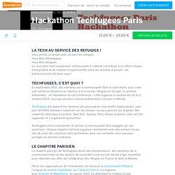 Hackathon Techfugees Paris Billets, sam le 12 mars 2016, 09:00