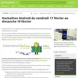 Hackathon Android du vendredi 17 février au dimanche 19 février