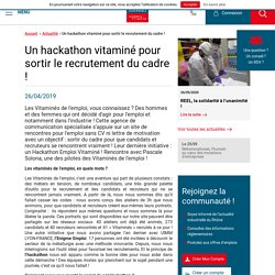 Un hackathon vitaminé pour sortir le recrutement du cadre ! - UIMM LYON - FRANCE