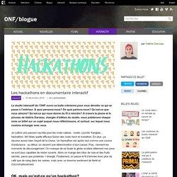 Les hackathons en documentaire interactif - ONF/Blogue