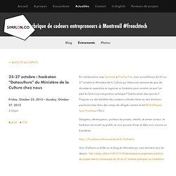"""25-27 octobre : hackaton """"Dataculture"""" du Ministère de la Culture chez nous — Simplon.co"""