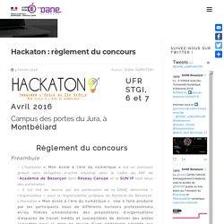 Hackaton : règlement du concours