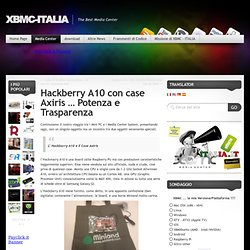 Hackberry A10 con case Axiris … Potenza e Trasparenza