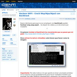 Hackear WIFI - Crack Wep/Wpa/Wpa2 con Backtrack