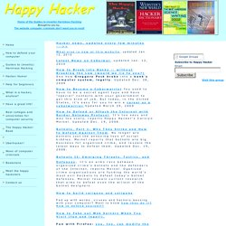 The Happy Hacker -- the web site computer criminals don't want you to read!