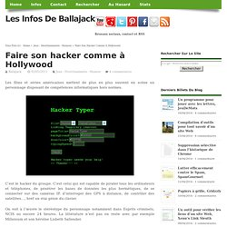 Faire son hacker comme à Hollywood