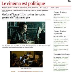 Geeks à l'écran (III) : hacker les codes genrés de l'informatique