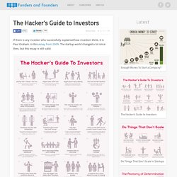 The Hacker's Guide to Investors - PG Essay Visualized