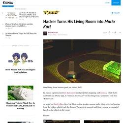 Hacker Turns His Living Room into Mario Kart