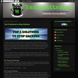 Top 5 Solutions to Stop Hackers