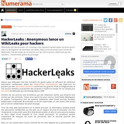 HackerLeaks : Anonymous lance un WikiLeaks pour hackers